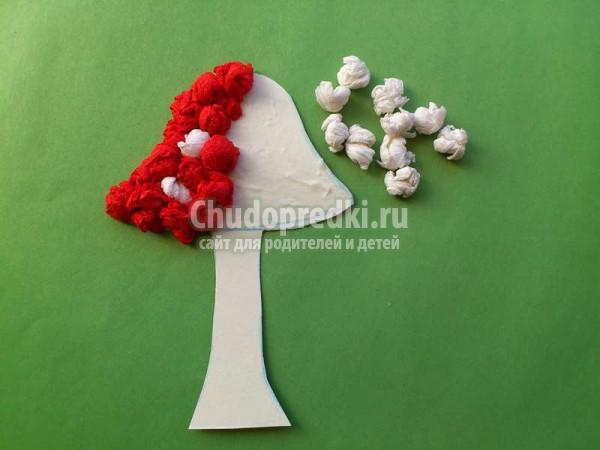Поделки из бумаги: грибы