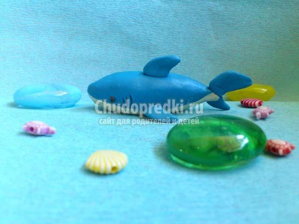 Как слепить акулу из пластилина