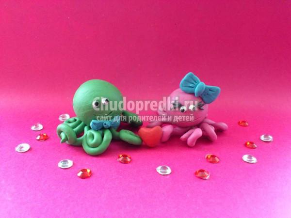 осьминог из пластилина