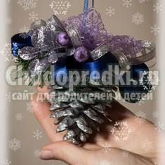 Красивые новогодние поделки из шишек: оригинальные идеи с фото и пошаговые мк