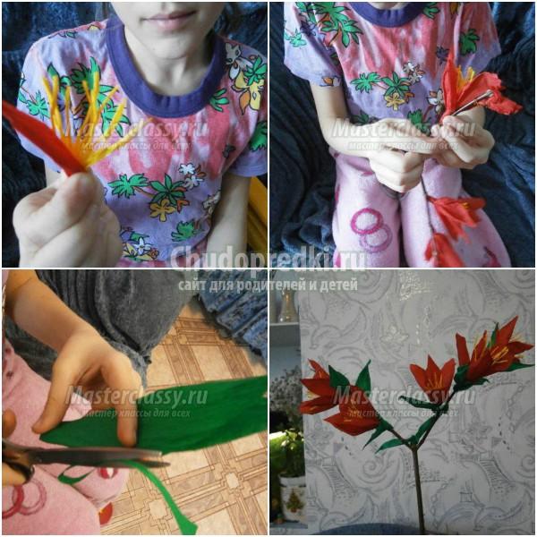 Красивые гофрированные цветы своими руками: лучшие идеи с фото