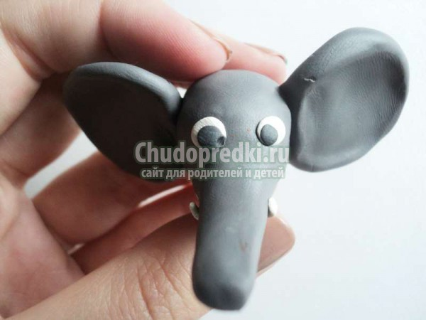 из пластилина: слоненок