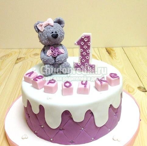 Нюансы заказа торта на первый день рождения малыша
