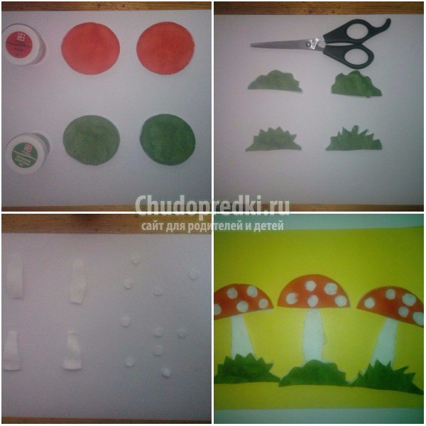 Аппликация из ватных дисков: идеи и мастер-классы с пошаговыми фото