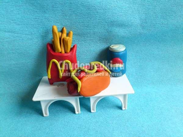 еда для кукол из пластилина
