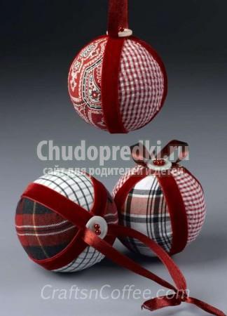Елочные шары своими руками