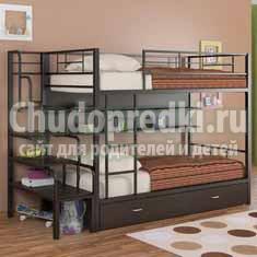 Детская двухъярусная кровать – спасение для маленьких квартир