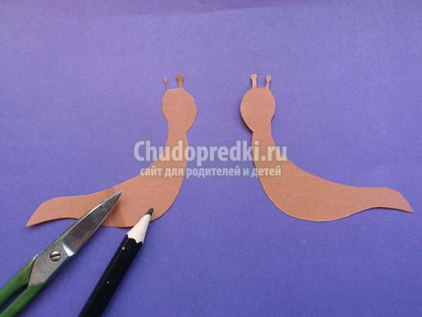 поделки из бумаги улитка