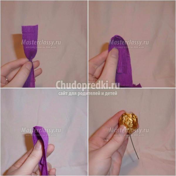 Букет из конфет своими руками: пошаговые мастер-классы с фото