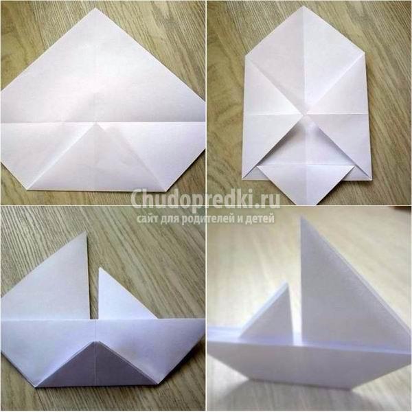 Как сделать кораблик из бумаги просто