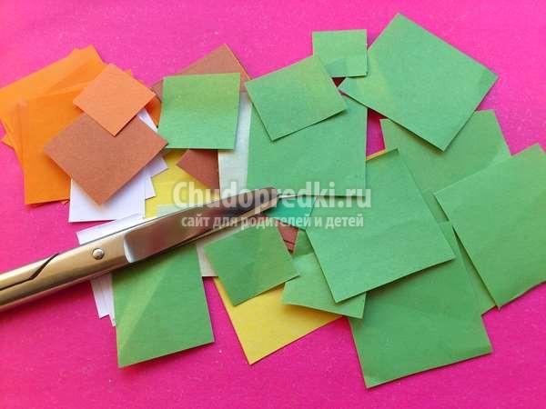 новогодняя елочка из бумаги