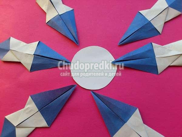 Снежинка  оригами