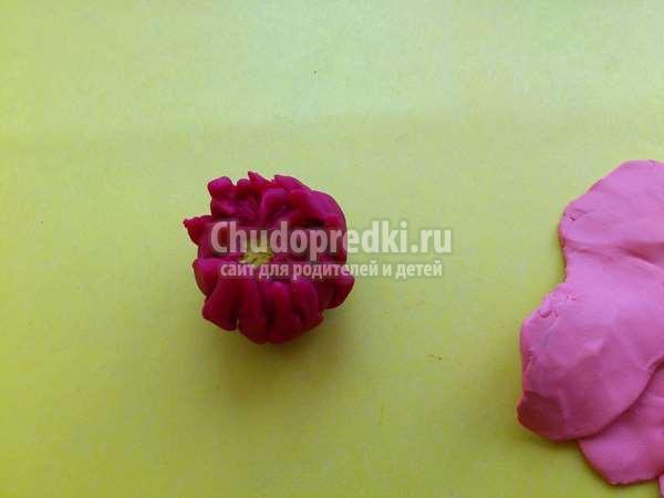 Цветок астра из пластилина