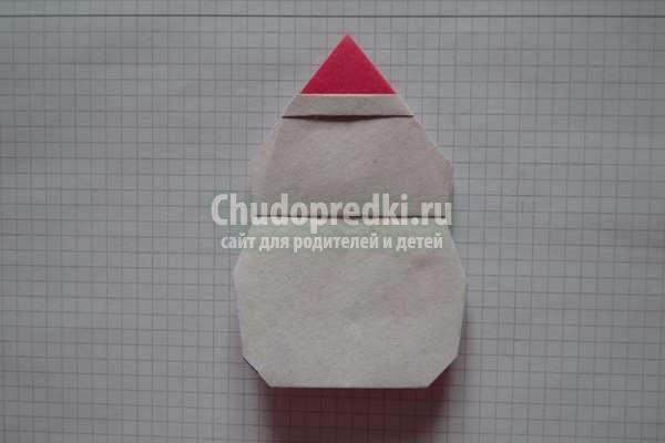 Снеговик оригами