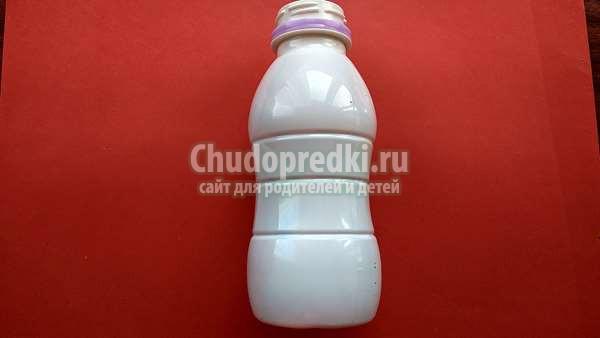снеговик из пластиковой бутылки