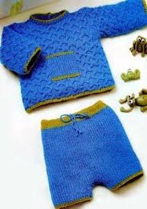 Сегодня мы научимся вязать теплый вязаный комплект для новорожденного