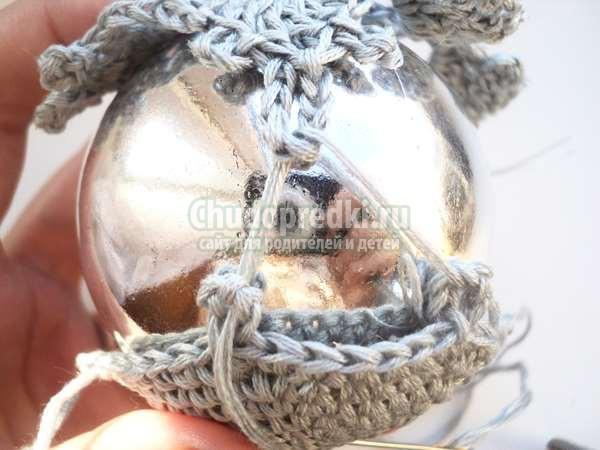 Обвязка елочного шарика