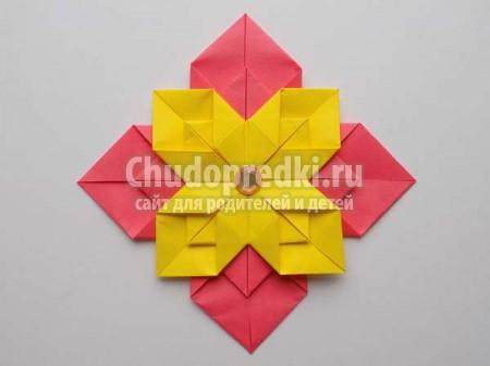 Цветок оригами из модулей. ТОП - 30 идей с фото пошагово