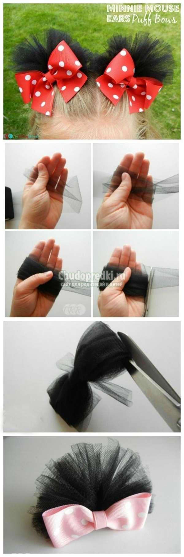Как сделать банты школьные атласные своими руками