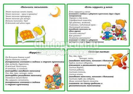 Пальчиковые игры для детей от одного года. ТОП - 20 самых интересных с фото