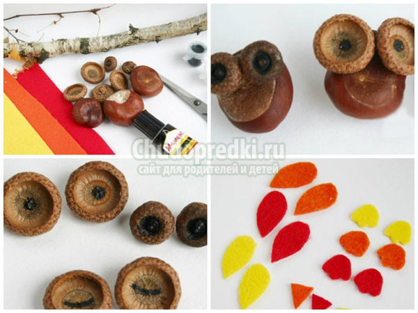 Поделки из природного материала на тему: осень