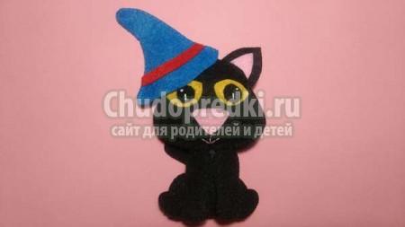 Поделки на Хэллоуин черный кот