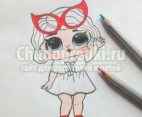 Как нарисовать куклу лол? Пошаговые мк с фото