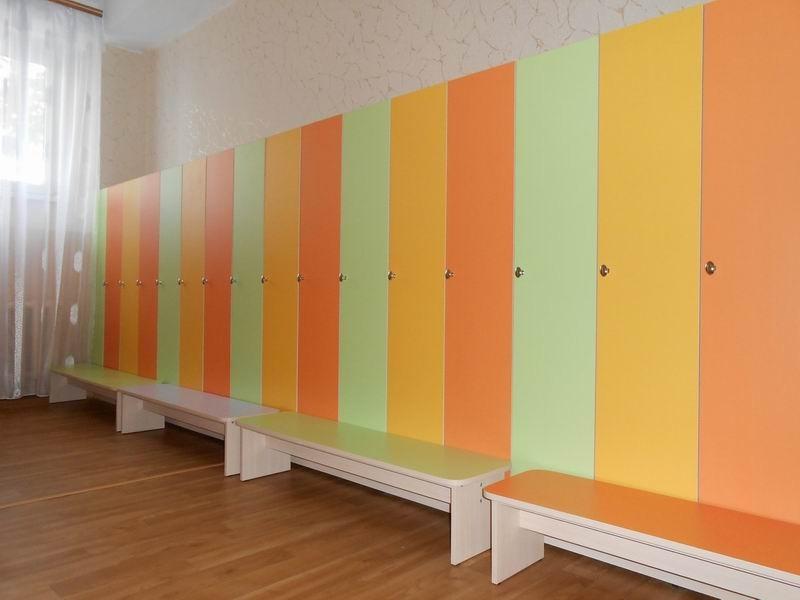 Разновидности шкафчиков для детских садов