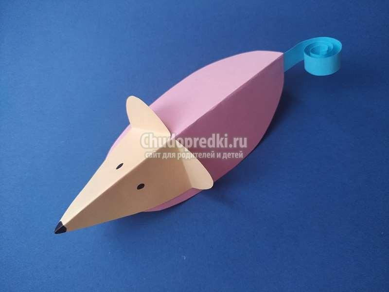 Детские Поделки На Новый Год 2020. Мастер класс Объемная Мышка из цветной бумаги