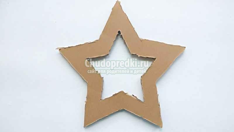 Новогодняя звезда из джута