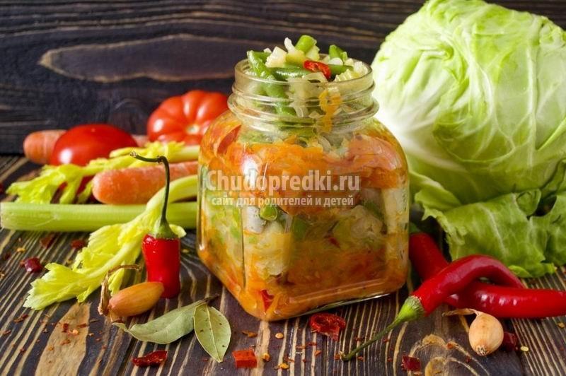 Популярные заготовки на зиму. Вкусные салаты из овощей