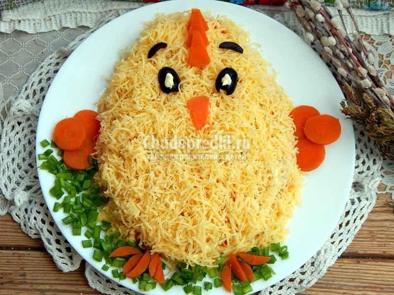 """Обалденный Салат """"Цыплёнок"""" с курицей. Пошаговый рецепт с фото"""