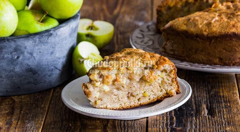 Яблочный пирог на кефире. Пошаговые рецепты с фото