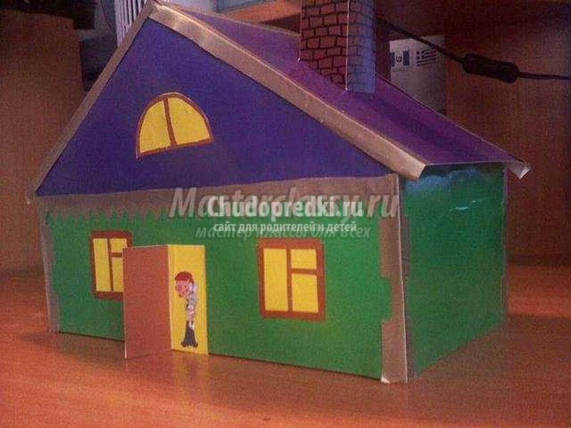 Как сделать домик из картона своими руками. ТОП - 35 идей. Пошаговые инструкции с фото