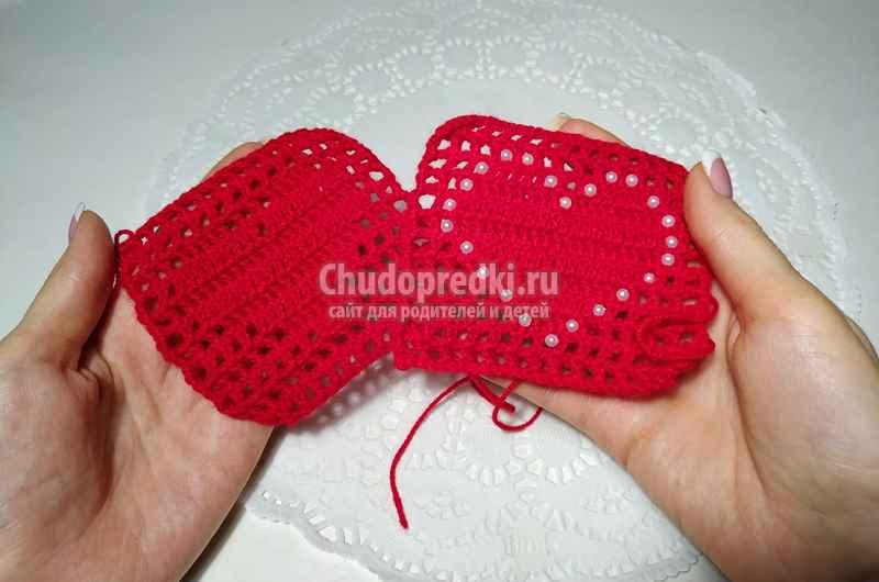Красивое филейное вязание крючком «Сердце». Пошаговая инструкция и видео