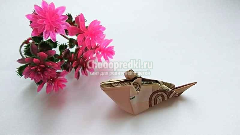 Как сделать мышку оригами. Пошаговая инструкция с фото. Мышка - манигами своими руками