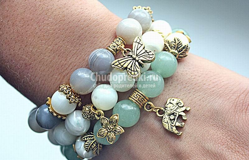Женские браслеты с камнями – стильный аксессуар