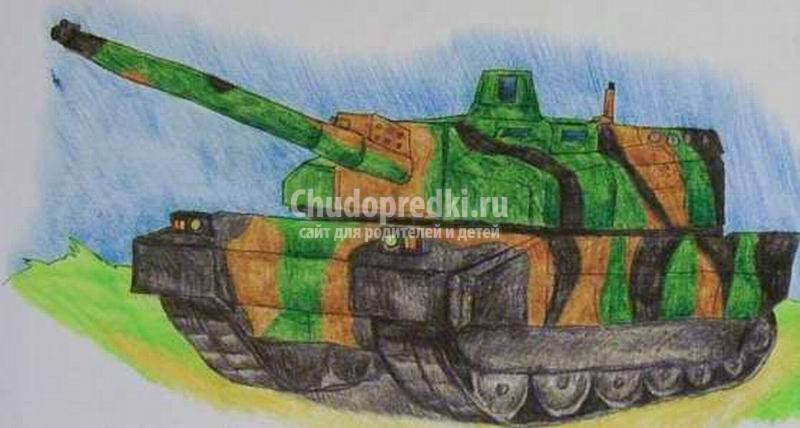 Танк: пошаговая инструкция с фото. Как нарисовать танк?