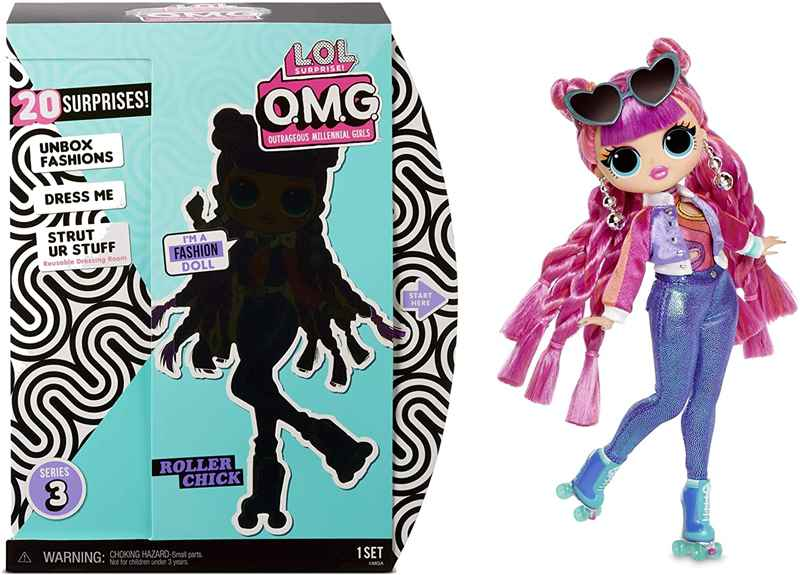 O.M.G. Series 3 Roller Chick Fashion Doll with 20 Surprises