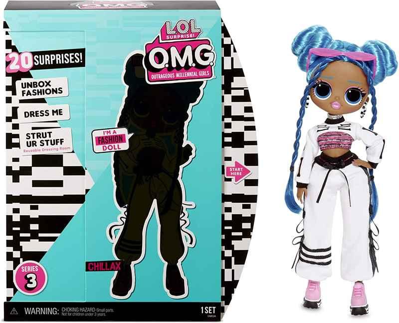 Chillax Fashion Doll with 20 Surprises