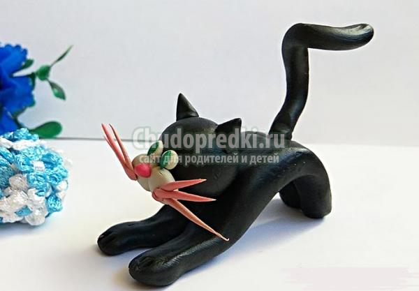 Как сделать кошку из пластилина: пошаговые мастер-классы с фото и видео